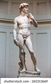 David Statue by Michelangelo in Galleria dell'Accademia in Florence. Italy.