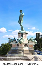 David statue at Piazzale Michelangelo / Michelangelo Square Florence city Tuscany Italy