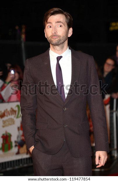 David Tennant arriving for the Nativity 2: Danger In The Manger Premiere, at Empire Leicester Square, London. 13/11/2012 Picture by: Alexandra Glen