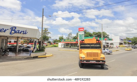 DAVID/PANAMA - OCTOBER 4 2014: Streets of David town. At the foot of Baru volcano. Panama. Central America