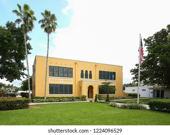 DAVIE, FLORIDA - SEPTEMBER: The Old Davie School, the first permanent school in the Everglades, now a Historical Museum, on May 19, 2018 the school became 100 years old as seen on September 21, 2018.