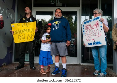 DAVIS, CA -- NOVEMBER 15th, 2016: A Choctaw man, indigenous rights activist, and Davis resident shared his experience at the Standing Rock camp in North Dakota during a #NoDAPL protest in Davis.