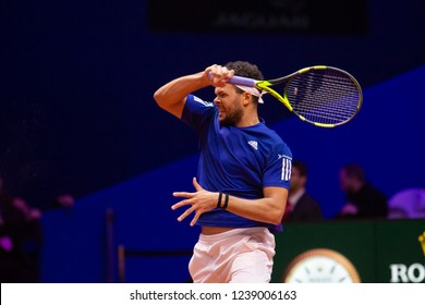 Davis cup 2018: Jo-Wilfried Tsonga during the first Day of the Davis Cup Final on November 23, 2018. Villeneuve d'Ascq, Hauts de France, France.