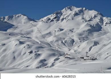Davos mountains ski area, Switzerland