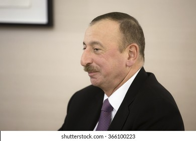 DAVOS, SWITZERLAND - Jan 22, 2016: Azerbaijani President Ilham Aliyev at the World Economic Forum in Davos (Switzerland)