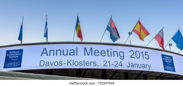 DAVOS, SWITZERLAND - JANUARY 16, 2015 : Congress building in Davos, Switzerland, for   the World Economic Forum.