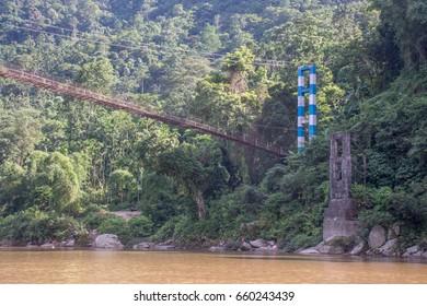 Dawki Hanging Bridge of Meghalaya, India
