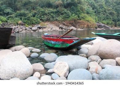 Dawki river, India Bangladesh Border, Meghalaya, India click date- 02-02-2021