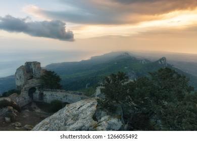 Dawn in the ancient Kantara castle