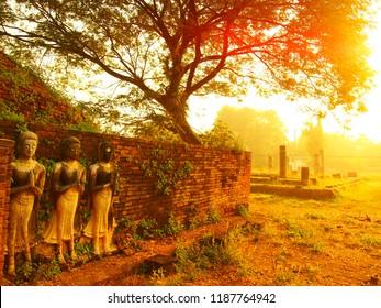 """Dawn of  Ancient""  Wat si sukhod Temple Historic Sites, Phitsanulok Province, Thailand"