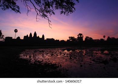 The dawn at Angkor, Siam reap