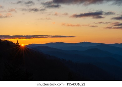 Dawn breaks in the Great Smoky Mountains