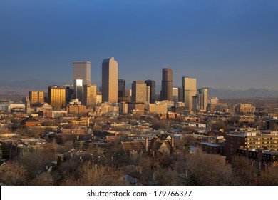 Dawn Breaks Over Downtown Denver Skyline