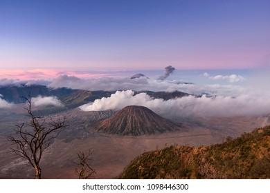 Dawn at Bromo Tengger Semeru National Park, East Java, Indonesia