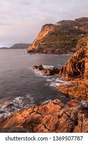 dawn, coastline Freycinet