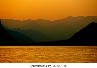 dawn at lake como italy