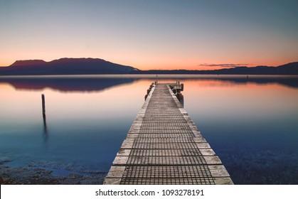 Dawn at Lake Tarawera, Rotorua, New Zealand