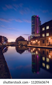 Dawn light at the Leeds and Liverpool canal basin