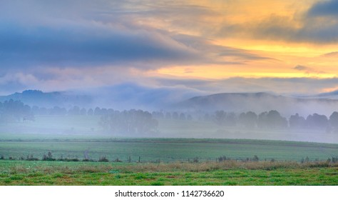 DAWN MISTS in the Umzimkulu Valley, Drakensberg, South Africa