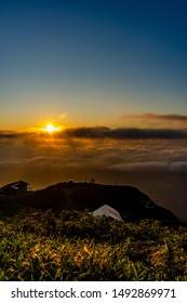 Dawn at mountains landscape in Hakuba Happo-one Japan