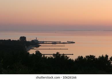 Dawn in Nida, Lithuania