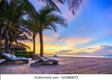 Dawn on the beach, Mui Ne, Phan Thiet, Binh Thuan, Vietnam.