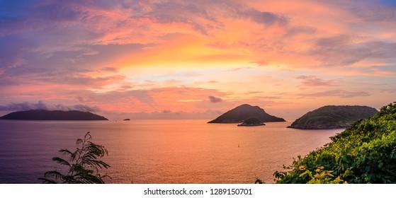 Dawn on Con Lon Island, Friday, October 5, 2018 5:36 AM