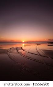 Dawn on Cromer Beach in Norfolk