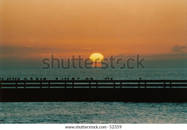 A dawn on the mediterranean sea from Monopoli (ITALY)