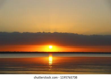 dawn on a tropical island. dawn in the tropics