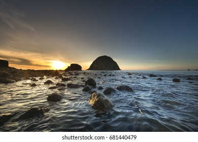 Dawn on Yen island, An Hoa commune, Tuy An district, Phu Yen province, Vietnam. This is one of the famous tourist destination of Phu Yen province