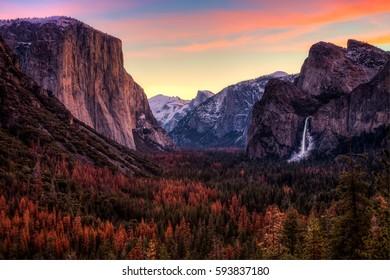 Dawn on Yosemite Valley, Yosemite National Park, California