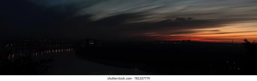 Dawn over the city of Kiev. Ukraine.