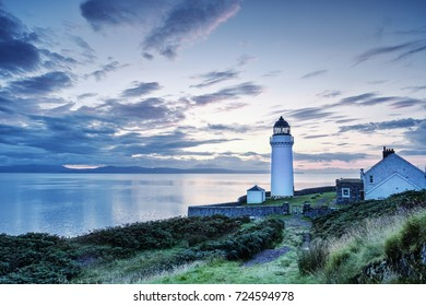 Dawn over Davaar Island Lighthouse, Campbeltown, Kintyre Peninsula, Scotland