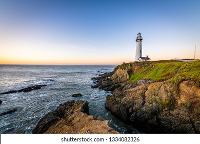 Dawn over Pescadero and the Pigeon Point Lighthouse