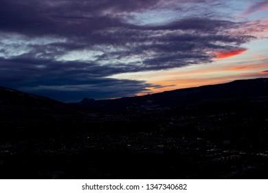 Dawn over Vernon BC