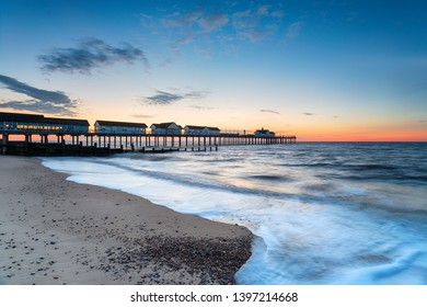 Dawn at the pier at Southwold on the Suffolk coast