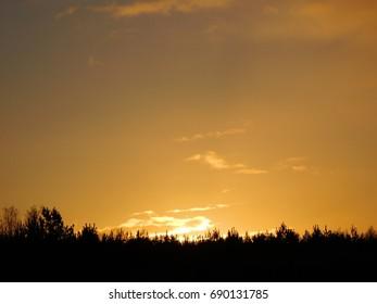 Dawn in Riga, Latvia