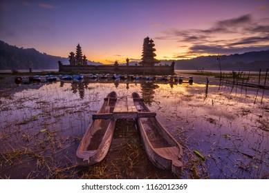 Dawn Scenery of Lake Tamblingan, Bali, Indonesia