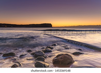 Dawn Seascape and Ocean Pool - MacMasters Beach on the Central Coast, NSW, Australia.