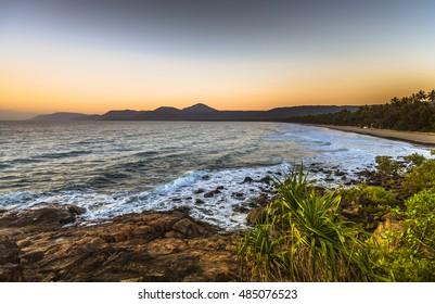 Dawn sky tropical 4 mile beach Port Douglas Queensland