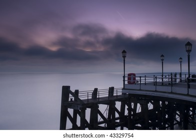 Dawn sky from Worthing Pier