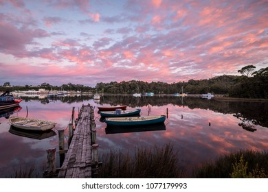 Dawn at Strahan Harbour, Tasmania