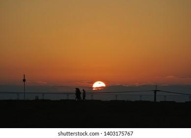 Dawn in the suburbs of Saga Japan