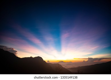Dawn time in mountain area around Bromo; East Java; Indonesia
