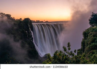 Dawn at the Victoria Falls