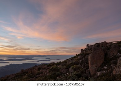 Dawn view from Mt Wellington