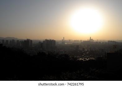 day city landscape