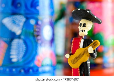 Day of the dead, mexican tradition (Mariachi playing guitar)