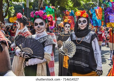 Day of the dead parade in Mexico city October 29, 2016